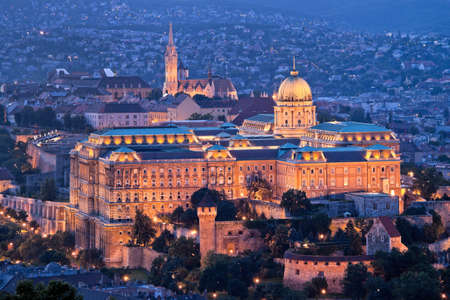 budapest: Europe, Hungary, Budapest, Castle Hill and Castle. City View Stock Photo