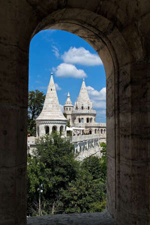 fishermens: Eurtopa, Hungary, Budapest, Fishermens Bastion. One of the landmarks of the city.