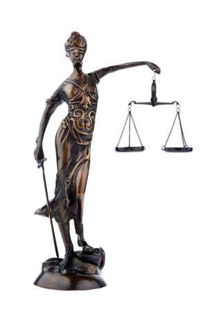 jurisprudencia: Una figura de justicia con escalas. Ley y justicia.