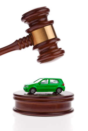 A car is auctioned. Foreclosure and insolvency. Personal bankruptcy. Stock Photo - 8826028