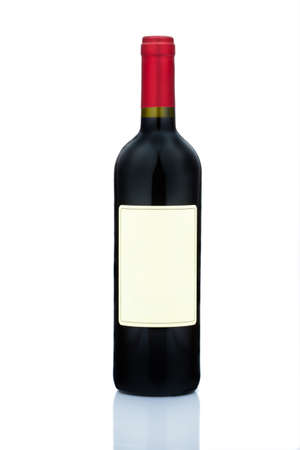 redwine: A bottle of red wine. Red wine bottle isolated against white background.