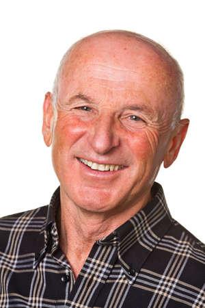 Senior Portraits. Portrait of a friendly elderly man. Recording in the studio. Stock Photo - 9009015