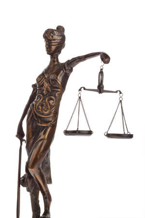 A Justice figure with scales. Law and Justice Stock Photo - 9009100