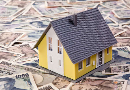 foreign currency: Yenkredit to build a house in foreign currency Stock Photo