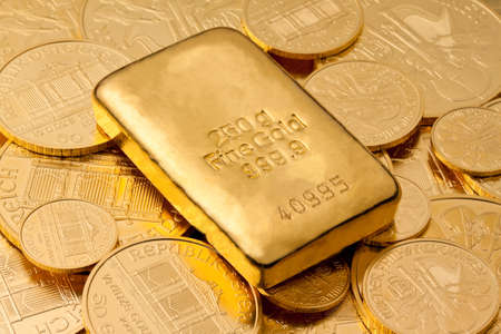 Investment in real gold than gold bullion and gold coins Stock Photo - 9119051