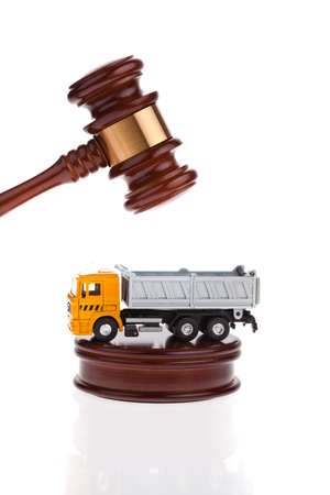 A truck will be auctioned. Foreclosure and insolvency. Personal bankruptcy. Stock Photo - 9199953