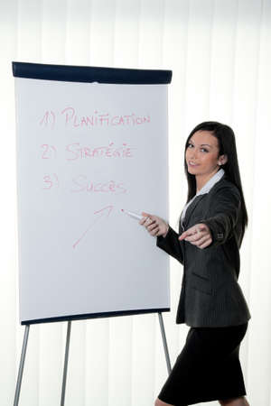 Coach flip chart in French. Training and education Stock Photo - 9260080