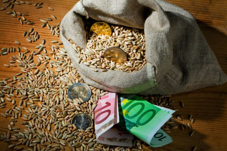 subsidy: Grains of rye. Yields for crops in agriculture