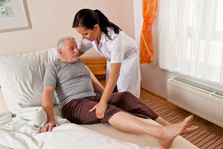 nursing unit: a nurse in aged care for the elderly in nursing homes