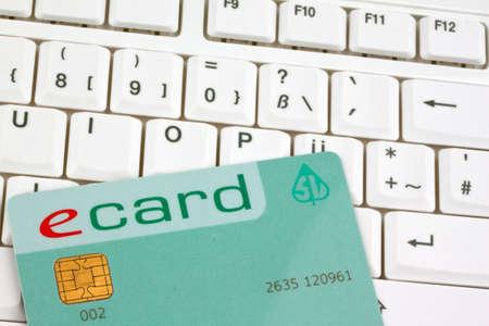 ecard: Una e-card della assicurazione sanitaria austriaca per i pazienti. Archivio Fotografico