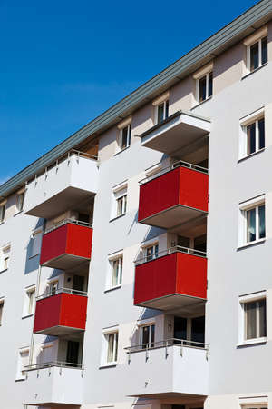 A modern building with balconies. Living in apartments and condos Stock Photo - 9450673