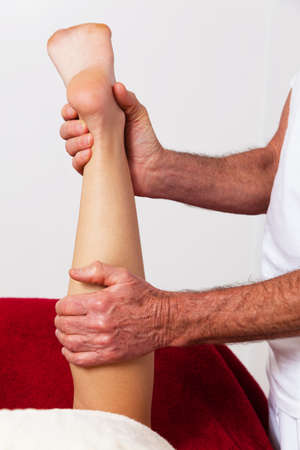 Relaxation, peace and well-being through massage. Lymphatic drainage photo