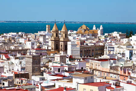 oldest: The city of Cadiz in Andalusia, Spain. Spains oldest settlement. Stock Photo