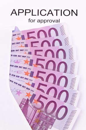 billets euros: De nombreux billets et demande en anglais