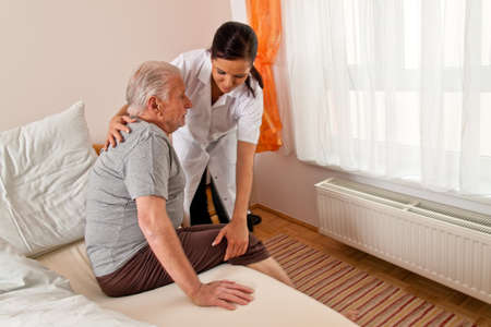 a nurse in aged care for the elderly in nursing homes Stock Photo - 9482181