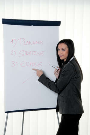 Coach flip chart in German. Training and education Stock Photo - 9482173