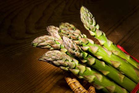 always: Green asparagus in the asparagus season. Fresh vegetables is always in season.