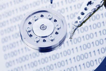 disco duro: El disco duro de un equipo aislado sobre fondo blanco Foto de archivo