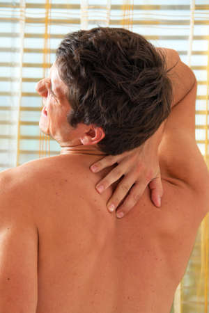 intervertebral disc: Sickness caused by pain in the back. Intervertebral disc and spinal column.