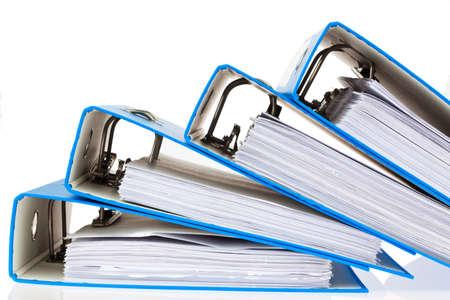 File mappen met documenten en papieren. Behoud van contracten. Stockfoto