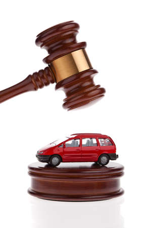 A car is auctioned. Foreclosure and insolvency. Personal bankruptcy. photo