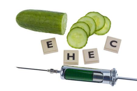 A cucumber as a symbol of EHEC disease photo