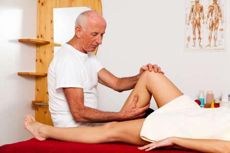Relaxation, peace and well-being through massage. Lymphatic drainage Stock Photo - 9751531