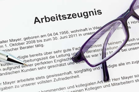 The testimony of an employee working in the German language