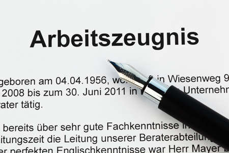 The testimony of an employee working in the German language Stock Photo - 9837874