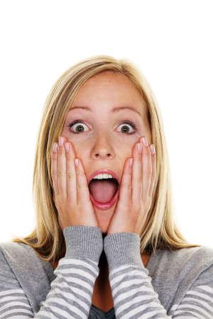 clumsy: Una mujer se sorprendi� desprevenidos. Asustado e indefenso