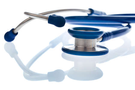 physicans: The stethoscope a doctor in the hospital is on the desk