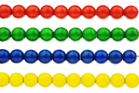 zahlen: An abacus with colored beads as an aid in the count.