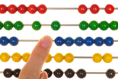zahlen: An abacus for learning mathematics. against a white background
