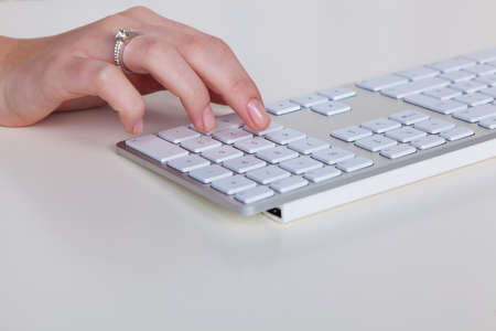grope: a hand is a numbers on a computer keyboard.