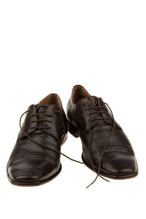 mens shoes: dark school of a businessman. isolated against a white background