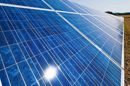 photovoltaic power station: renewable, alternative solar energy. solar energy power plant.