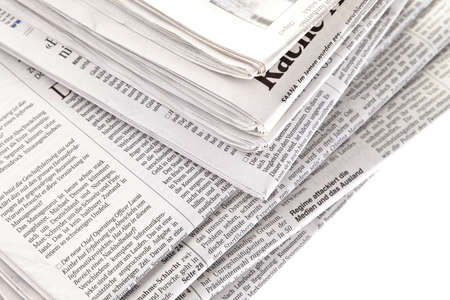old newspapers and magazines in a pile Stock Photo - 11103762