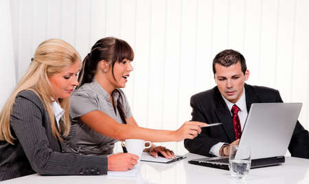 successful young team at a meeting in the office Stock Photo - 11103878