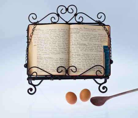 an old handwritten cookbook with recipes. old recipes. Stock Photo - 11153923