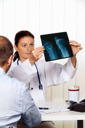 physician in practice with patients. interview and counseling treatment. Stock Photo - 11276397