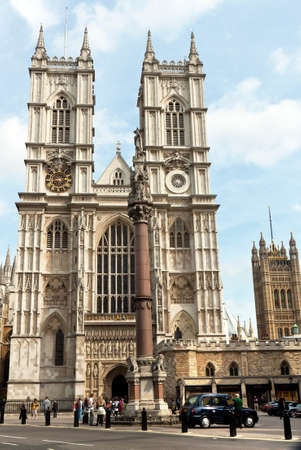 abbey: the westminster abbey in london (england) is one of the most beautiful churches in the city Stock Photo