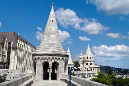 township: eurtopa, hungary, budapest, fishermens bastion. one of the landmarks of the city.