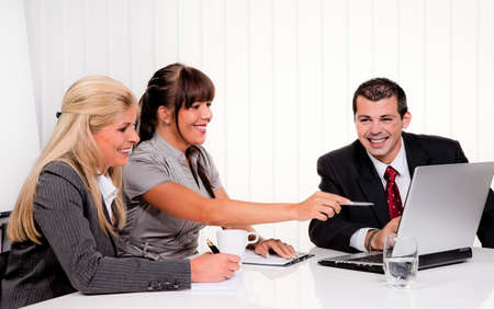successful young team at a meeting in the office Stock Photo