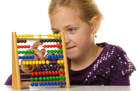 a small school is expecting a child abacus. photo