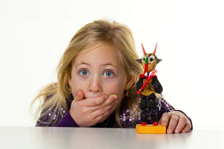 psychologically: little kid with a krampus from dried fruit.