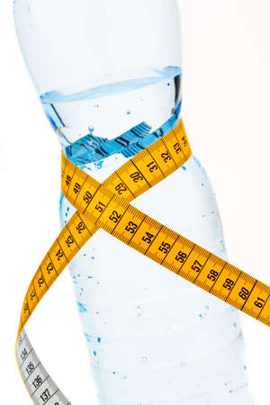 mineral water. symbol for diet and weight loss. photo
