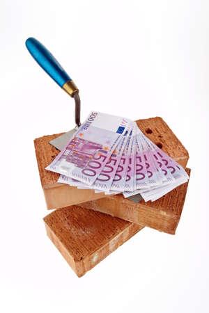 botch: symbolfoto construction, financing, building society. brick and €