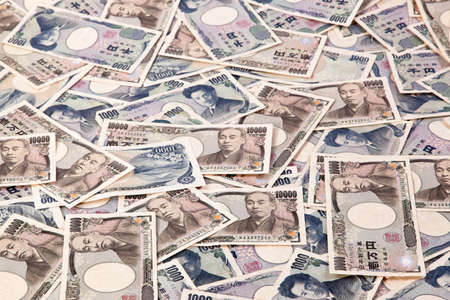 yen: many japanese yen, the currency bills. japan money