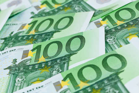 many euro banknotes of the european union. photo symbol for wealth Stock Photo - 11944262