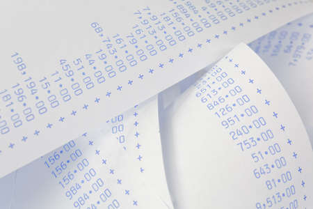 liquidity: computationally strips with numbers. symbol for costs, expenses, revenues and profits.